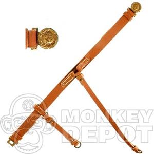Russett Civil War Leather Belts 33