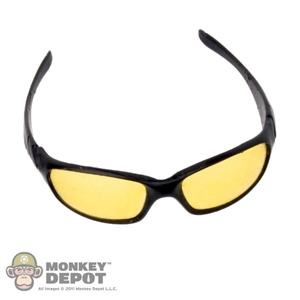 Monkey Depot - Glasses: Flagset Mens Yellow Tinted Sunglasses