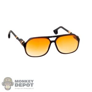 Monkey Depot - Glasses: DamToys Female Gold Frame