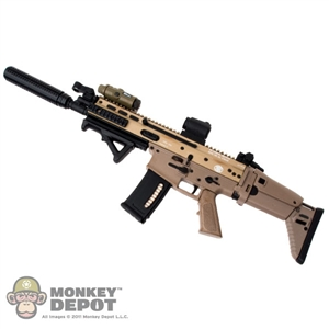 Monkey Depot Rifle Hot Toys Scar L W Sight Grip Silencer