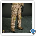 Detailed hiking boots in cloth and shot of the Crye pants with AOR riggers belt.